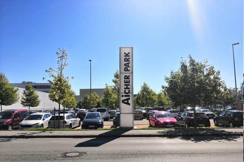 Bild vom AicherPark-Parkplatz