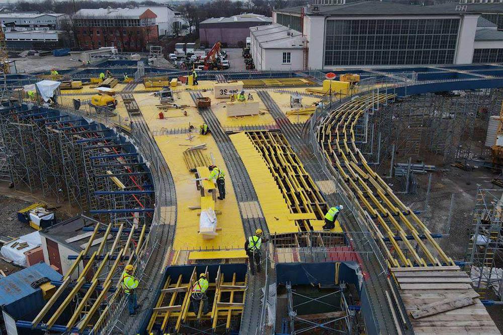 Bild vom Bau der B15